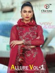 CHARIZMA DESIGNER ALLURE VOL 1 PAKISTANI SUITS MANUFACTURER IN SURAT