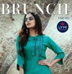 KESSI  BRUNCH VOL 2  RAYON KURTIS WHOLESALER