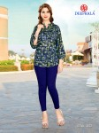 DEEPKALA BLUE HEAVEN SHORT KURTI WHOLESALER