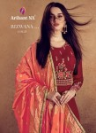 ARIHANT DESIGNER RIZWANA VOL 2 GOLD GOWN DRESS WITH PRICE