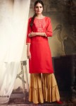 KAJREE KHANAK VOL 3 KURTI WITH SHARARA