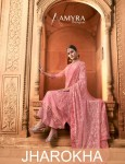 AMYRA DESIGNER JHAROKHA VISCOSE OPADA SALWAR SUITS CATALOGUE