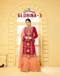 YOUR CHOICE GLORINA VOL 3 GEORGETTE SARARA SUITS AT WHOLESALE