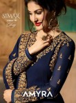 GLOSSY SIMAR AYMRA 9081 COLOURS PAKISTANI  DRESS MATERIAL WHOLESALE INDIA