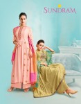 ANGROOP PLUS SUNDRAM UPADA SILK LATEST SALWAR SUITS WHOLESALE