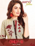 AARVI FASHIONS ONLY 9 WITH PLAZO COTTON KURTIS WHOLESALE