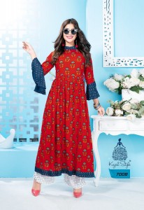 KAJAL STYLE FASHION GALLERIA VOL 7 WHOLESALE KURTS