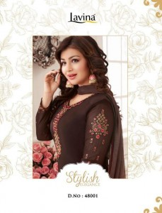LAVINA VOL 48 SALWAR SUITS DRESS MATERIAL