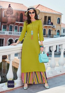 KAJAL STYLE FASHION BIBA VOL 3 LONG KURTIS