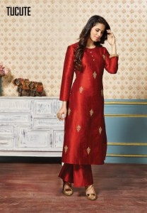 KARMA TUCUTE PURE SILK KURTIS  AT WHOLESALER PRICE