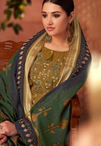 KAABIL GOLDEN LEAF  PAKISTANI SALWAR SUITS AT WHOLESALE PRICE