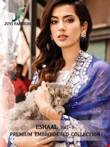 JUVI FASHION ESHAAL VOL 8 PAKISTANI SUITS COLLECTION NEW DELHI DELHI