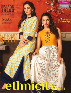 DIYA TRENDZ ETHNICITY VOL 3 COTTON KURTIS WHOLESALERS IN INDIA