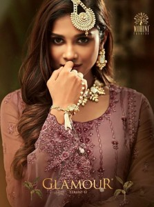 MOHINI GLAMOUR VOL 61 NET DRESS MATERIAL AT BEST PRICE