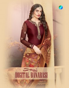 YOUR CHOICE DIGITAL BANARASI PAKISTANI SUITS NEW COLLECTION  2019