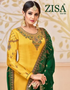 MEERA TRENDZ ZISA VOL 56 PAKISTANI UNSTITCHED SUITS WHOLESALE