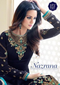 RSF NAZRANA VOL 2 SATIN GEORGETTE DRESS MATERIAL AT CHEAPEST PRICE