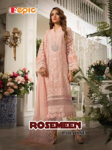 FEPIC ROSEMEEN PARADISH GEORGETTE SALWAR SUITS DRESS MATERIAL