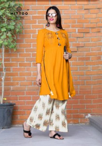 MITTOO AVANTIKA  RAYON KURTIS WHOLESALE IN INDIA