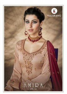 KALARANG AMIRA VOL 2 SATIN GEORGETTE DRESS MATERIAL