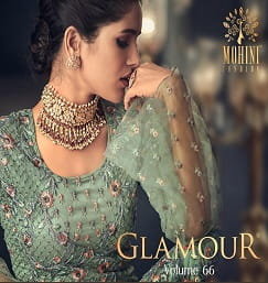 MOHINI FASHION GLAMOUR VOL 66 SURAT WHOLESALE MARKET DRESS MATERIAL