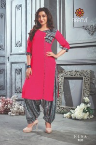 BAANVI ELSA  LATEST DESIGNER KURTIS CATALOGUE