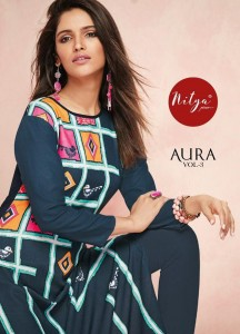 LT FABRICS NITYA AURA VOL 3 NEW RAYON KURTIS CATALOGUE