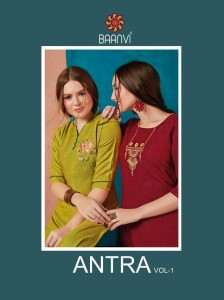 BAANVI ANTRA VOL 1 CATALOGUE KURTIS MANUFACTURER