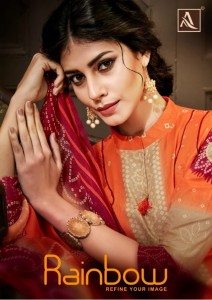 ALOK RAINBOW COTTON CAMBRIC SUITS WHOLESALE