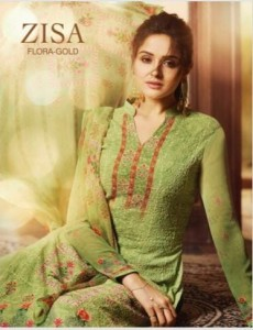 ZISA FLORA GOLD LATEST BY MEERA TRENDZ