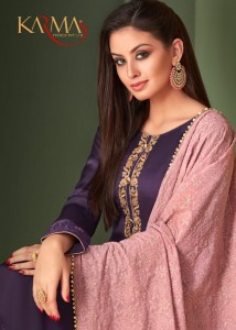 KARMA TRENDZ 12006-12011 SERIES HEAVY EMBROIDERED SALWAR SUITS CATALOGUE MANUFACTURER  SURAT