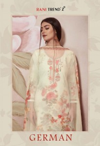 RANI TRENDZ GERMAN LATEST COTTON SUITS DESIGNS