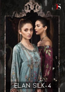 DEEPSY ELAN SILK VOL 4 PAKISTANI SUITS WHOLESALE IN INDIA