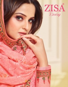 MEERA TRENDZ ZISA DAISY COTTON DRESS MATERIAL AT WHOLESALE PRICE