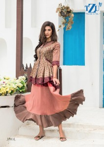 TZU RUBINA SILK DESIGNER KURTIS COLLECTION