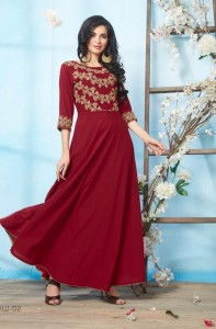 STF RIWAAZ LONG FLOOR KURTIS