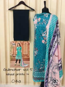 ISHAAL GULMOHAR VOL 5 WHOLESALER OF KARACHI SUITS
