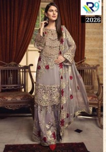 R9 ALIZA NX PAKISTANI GEORGETTE SUITS