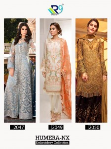 R9 HUMERA NX WHOLESALE PAKISTANI SUITS
