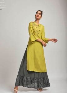 FOUR BUTTONS RAAG KURTI WITH BOTTOM