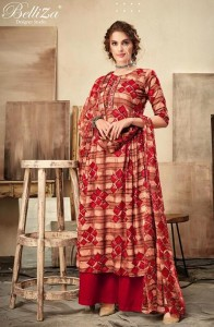 BELLIZA DESIGNER CHERRY PASHMINA SUITS