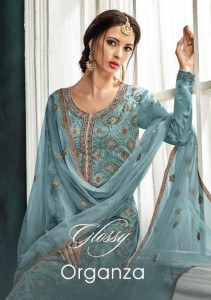 GLOSSY PRESENT ORGANZA 846-850 SERIES SALWAR SUITS CATALOGUE WHOLESALE