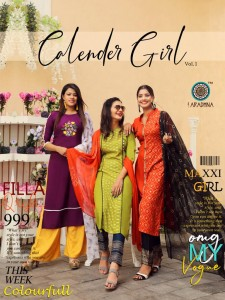 ARADHNA CALENDER GIRLS VOL 1 KURTIS CATALOG