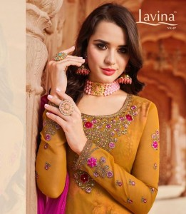 LAVINA NX 7 PAKISTANI GEORGETTE SALWAR SUITS CATALOG
