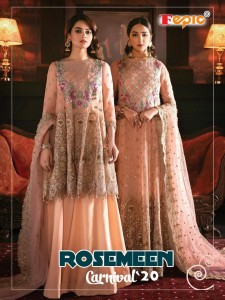 FEPIC ROSEMEEN CARNIVAL 20 PAKISTANI SUITS CATALOGUE