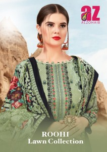 AL ZOHAIB ROOHI LAWN COLLECTION LAWN KARACHI SUITS CATALOG