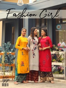 ARADHNA FASHION GIRL VOL 1 KURTI WITH PALAZZO WHOLESALER