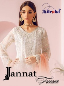 KILRUBA JANNAT FREESIA PAKISTANI GEORGETTE SALWAR KAMEEZ CATALOGUE