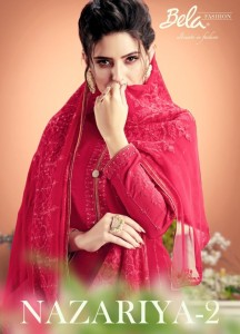 BELA NAZARIYA VOL 2 MUSLIN EMBROIDERED SUITS CATALOGUE