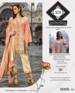 LUXURY LAWN EMBROIDERED COLLECTION 2020 BY MM BROTHERS